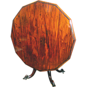Mahogany English Tilt-top Breakfast Table Circa 1830