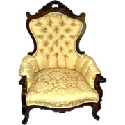 Rosewood Victorian Parlor Arm Chair