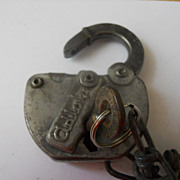 SOLD Vintage GM & O Railroad Lock !!