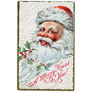 Santa Face Postcard A Merry Xmas to YOU
