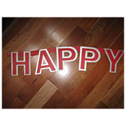 """ HaPPY NEW YEAR""  Garland Vintage"