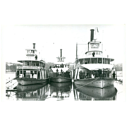 Real Photo Postcard Boats- Flood