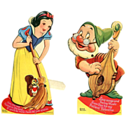 SALE Snow White and Doc Valentine Disney 1938