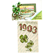 Two St. Patrick's Day Post Cards