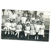Real Photo Postcard Sad Children all Dressed Up