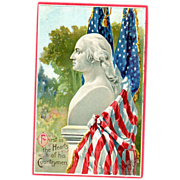 Artist Signed George Washington Postcard