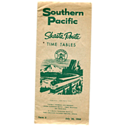 Southern Pacific Shasta Route Time Tables 1958