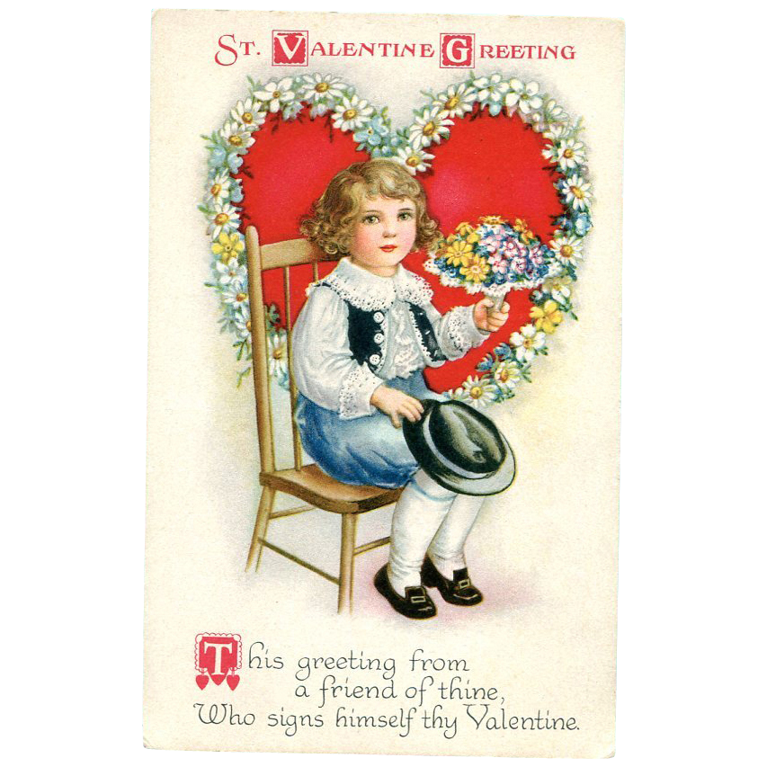 St. Valentine Greeting Postcard