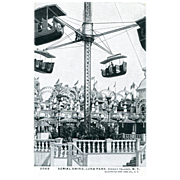Aerial Swing, Luna Park,Coney Island Postcard