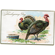Thanksgiving Day Raphael Tuck & Sons RJ Wealthy Postcard
