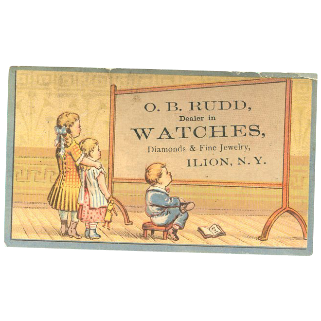 O.B. Rudd Jewelry Trade Card NY