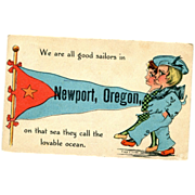 We are all good sailors in NEWPORT, OREGON Artist signed