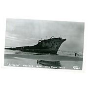Ship Wreck &quot;Intrepid Wrecked 1954 Washington & Fishing Woman
