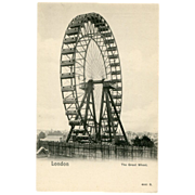 SALE Real Postcard The Great Wheel Ferris Wheel London