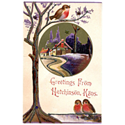 Greetings from Hutchinson ,Kans Post Card