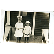 Real Photo Postcard Siblings