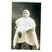 Real Photo Vintage attired Child