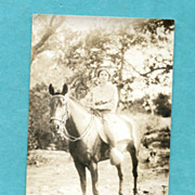 "Real Photo Postcard of Horse ""Little Tom"""