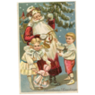 German Robed Santa with Toys Postcard