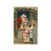 Vintage Car & Santa Postcard