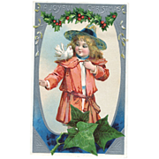 Brundage Style Girl Postcard