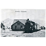 Railway Station Creede, Colorado Real Photo