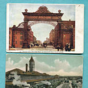 Denver Co. Union Depot 2 Postcards