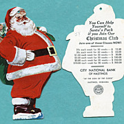 Santa Christmas Club Hastings, Neb. Santa Die Cut
