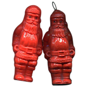 Pair of Irwin Celluloid Santas