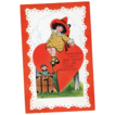 Whitney Valentine Postcard Doll on Trunk