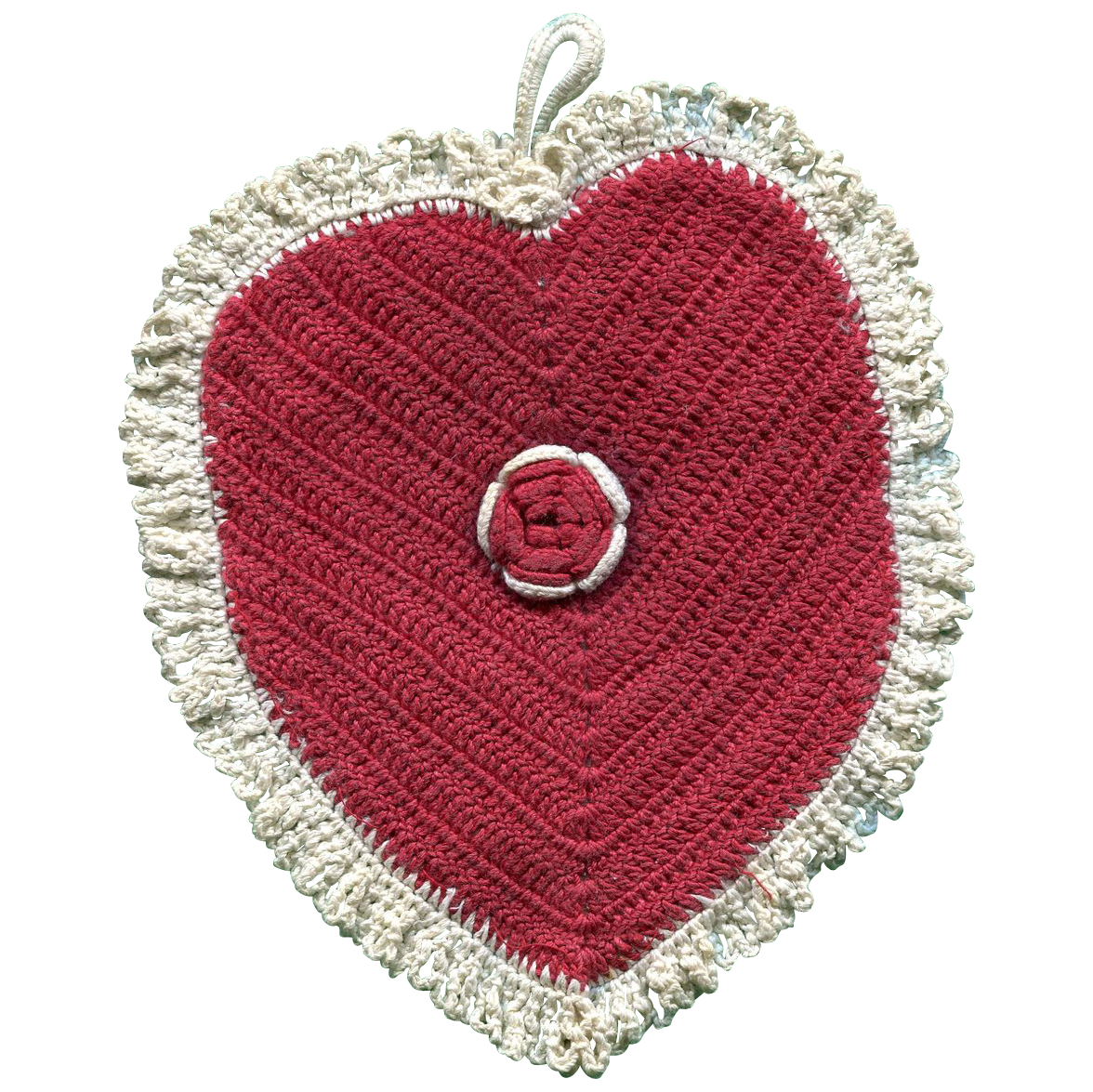 Heart Shaped Pot Holder Vintage Kitchen