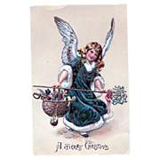 A Merry Christmas Angel Postcard