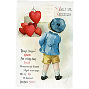 Signed Clapsaddle Valentine Postcard