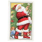 Merry Christmas Santa Postcard