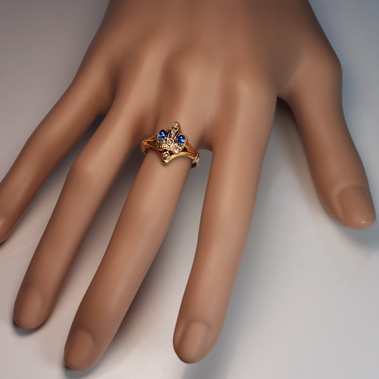 Antique russian imperial crown ring rose gold for Best place to sell gold jewelry in chicago