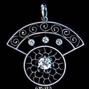 Russian Revival Style Diamond Pendant c. 1915