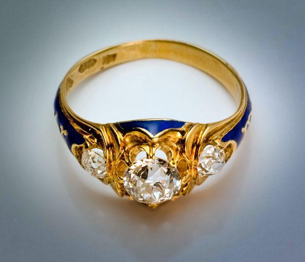 antique era engagement ring russian