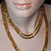 SOLD Antique Double Row Gold Chain Necklace 1840s Russian