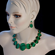 Antique Russian Malachite Parure
