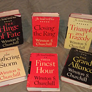 Churchhill - 1st Editions of The Second World War complete series w/ dust covers