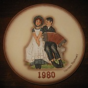 "SALE Norman Rockwell's Collectors Plate ""Lovers"" 1980 Dave Grossman Design Collectio"