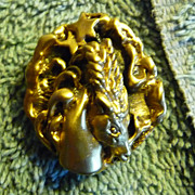 SALE Vintage Highly Collectible Capricorn Pin from the Tortolani Zodiac Series