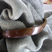 Vintage Silver And Copper Bracelet Cuff