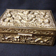 SALE Chinese Brass Dragon Motif Box