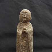 SALE Chinese Stone Carved Monk Figure