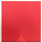 SALE Ruoff, Fritz - Komposition In Rot , Silkscreen 1973