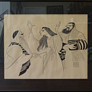 SALE Al Hirschfeld lithograph signed in plate