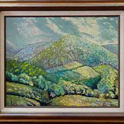 "SALE David Crown ""Honeoye Valley"" signed Oil on Canvas"