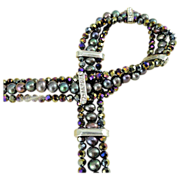 SALE 3 Strand Mardi Gras Party Choker