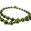 Olivine Swarovski Crystal and Cultured Freshwater Pearl Necklace